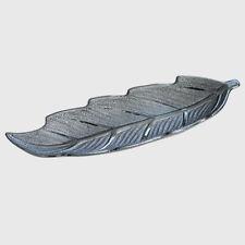 Gilde Deko Schale Blatt Struktur Poem Keramik silber grau Gefäss Tablett NEU
