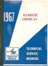 1967 AMC RAMBLER AMERICAN SERIES SHOP/BODY   MANUAL