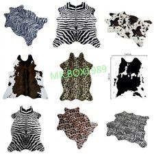 Catchnew Zebra Cow Leopard Deer Animal printed Cow Hide Rug Mat Faux Carpet