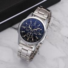 Stainless Steel Man's Dial Cool Belt Analog Sport Quartz Business Wrist Watch