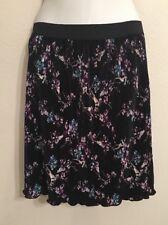 New White House Black Market Women's XS S M L X Pleated Skirt Black Gothic Grape