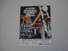 advertising Pubblicità 1979 GILERA CBA 50