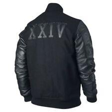 "Michael Jordan Men's KOBE Destroyer XXIV Jacket ""Battle"" - Faux Leather Sleeves"