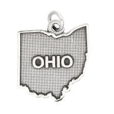 LGU® Sterling Silver Oxidized Ohio Charm -with Options