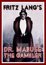 Dr Mabuse Der Spieler Ein Bild Der Zeit    German Movie Posters Classic Vintage
