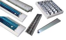 Lampenfassung Rasterleuchten Fassungen komplett  mit LED Leuchtröhren Neonröhre