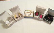 Vintage Avon lot- new in boxes - 3 pair clip earrings, 1 necklace, 1 bracelet