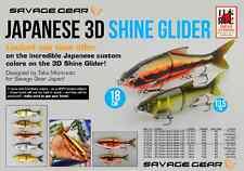 SAVAGE GEAR 3D Roach Shine Glider Japan Custom -Größe & Farbe wählbar- LimitedEd