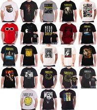 Nirvana T shirt Nevermind band logo Kurt cobain In Utero Official Mens New