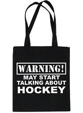 Warning May Talk About Hockey Bag For Life Shopping Tote Bag