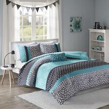 New! ~ Cozy Chic Teal Cheetah Aqua Blue Black Pink Polka Dot Girl Comforter Set