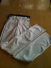 Rawlings YBPU350 Youth Baseball Pant, Un-hemmed, Manny Style, White/Navy Piping