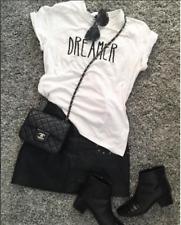 Women's Slogan DREAMER T-Shirt. Organic Cotton. Eco-Friendly T-Shirt.