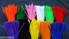 "Limpiadores De Pipa chenille Artesanía Tallos 30cm 12"" diversas cantidades & Colores Metálico"