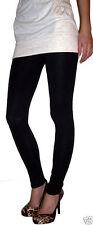 LONG LENGTH Leggings Viscose Elastane BLACK Sizes 6-18....  210 gsm