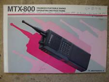 Motorola MTX-800 Trunked Portable Radio Inst Manual  X3