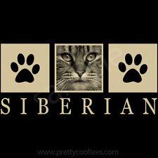 Siberian Cat Portrait T-Shirt Tee - Men Women's Youth Tank Short Long Sleeve
