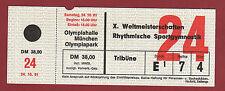 Orig.Ticket    Weltmeisterschaft Rhytmische Sportgymnastik MÜNCHEN 1981 - Finale