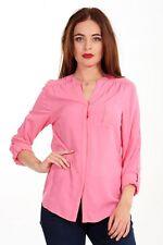 Ladies M&S Blouse Pink Summer Top Plain Womens Orange Shirt White