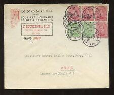 ADVERTISING 1922 2 COLOUR ILLUST.COVER BELGIUM to GB...E.DUQUESNE