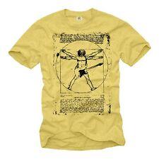 Vintage rock band t-shirts da vinci guitarra música t-shirt amarillo señores Cool S-XXL