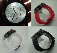 VERNE Mechanical Illusion Watch: 3D LED Lithophane unique dial novelty +3 straps