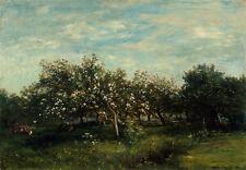 "Charles-Francois Daubigny : ""Apple Blossoms"" (1873) — Giclee Fine Art Print"