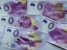 0 Euro Schein AUSWAHL Deutschland, Frankreich, Souvenirschein Null € Geldschein
