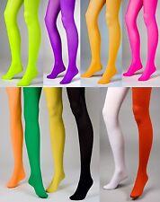 Nahezu blickdichte Strumpfhose sehr dehnbar Karneval Neon-Farben Strumpfhosen