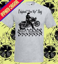 TON UP Niño Café Racer Camiseta Hombre Rockabilly Psychobilly de motociclista