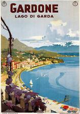 TU99 Vintage 1930's Italian Italy Gardone Lake Garda Travel Poster A2 A3