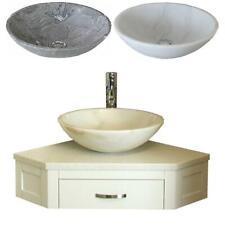 Bathroom Vanity Painted Unit Corner Wash Stand & Marble Stone Basin 501PWWQ