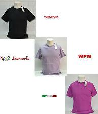 T-SHIRT WAMPUM COTONE ELASTICIZZATA SLIM MEZZA MANICA M L XL XXL