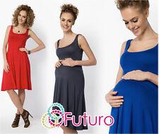 Femmes Maternité Robe Patineuse Sans Manche Longueur Genou Tunique Grande Taille