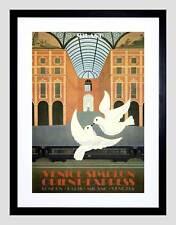 Turismo de viaje tren Orient Express Londres Paloma De Venecia Arte enmarcado impresión B12X3404