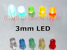 Flat Top: 3mm diffusa 5mm: VARI COLORI Pre-cablato LED: ULTRA luminosa