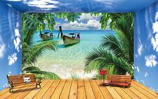 3D Meer mit Booten 2455 Fototapeten Wandbild Fototapete BildTapete Familie