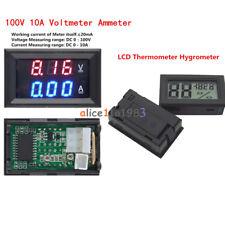 DC 100V 10A Voltmeter Ammeter Blue + Red LED Amp Dual Digital Volt Amp Meter