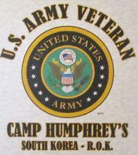 CAMP HUMPHREY'S* SOUTH KOREA-ROK* US ARMY VETERAN EMBLEM*SHIRT
