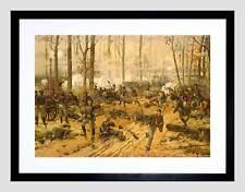 Guerra Civil estadounidense batalla Shiloh EE. UU. nuevo negro impresión arte enmarcado B12X11972