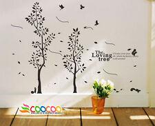 Wall Decor Decal Sticker large vinyl loving tree twin