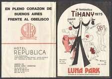 Programme Thiany Circus Luna Park + Ticket 1975