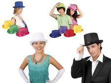 Cappello a cilindro per carnevale a vari colori, ideale travestimento carnevale