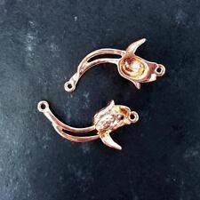 5 Plateados / oro / chapado en oro rosa collar de flores colgantes joyería