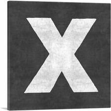 ARTCANVAS Chalkboard Alphabet Letter X Canvas Art Print