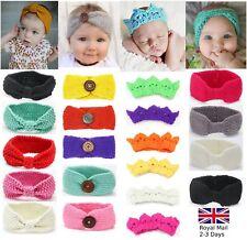 Baby Girls Winter Turban Crochet Tricot Laine Bandeau Bandeau Ear Warmer Crown