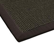 Sisal-Teppich Flachgewebe| hochwertig genähte Bordüre| 9 Gr.| dunkel-braun