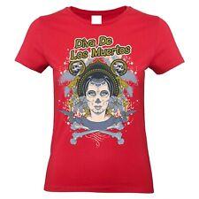 Death diva t shirt women los muertos S-2XL
