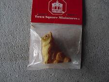 Plastic Dollhouse Brown Yellow Dog Figurine MIP LOOK