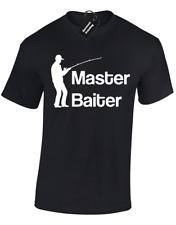 MASTER Baiter Da Uomo T shirt Divertente Pesca Pescatore Regalo Idea Top S - 5XL